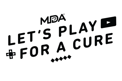 MDA Lets Play For a Cure logo Black version
