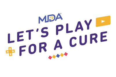 MDA Lets Play For a Cure logo Full Color White version