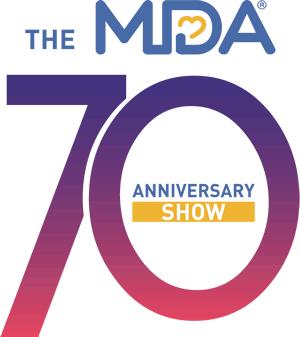 The MDA 70th Anniversary Show logo