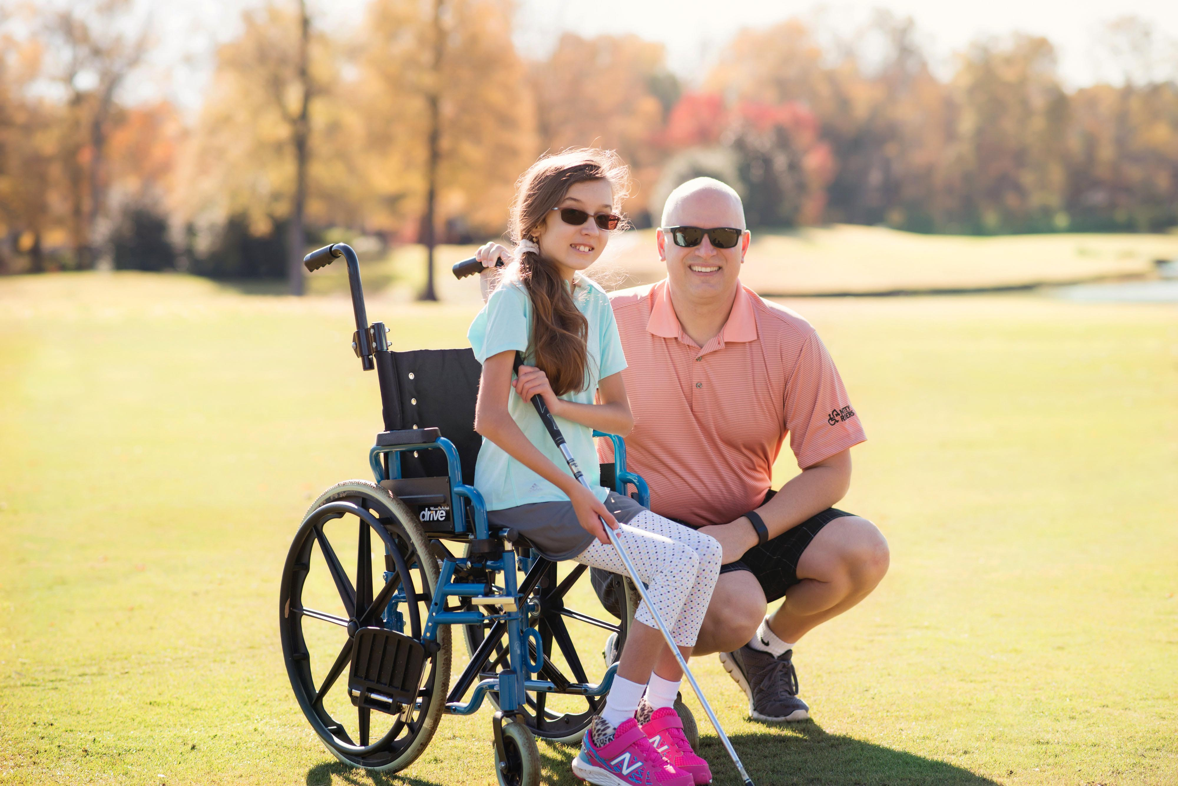 A picture of an MDA golf event.