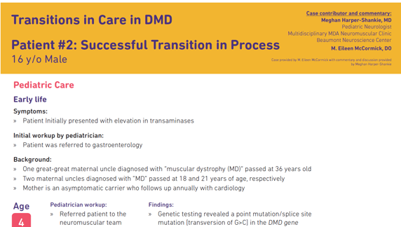 Transitions in Care in DMD Patient #2 - Successful Transition In Process