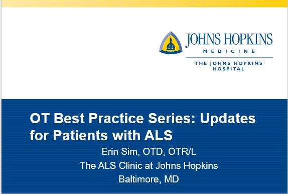 OT Best Practice Series: Updates for Patients with ALS