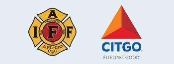 Two sponsor logos are shown, IAFF, and CITGO.