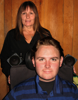 Chris Norton, with his mother, Suzan