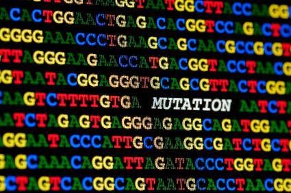 A digital representation of a DNA mutation