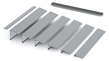 This EZ-Access aluminum threshold ramp has interlocking segments. It's designed to offer safe passage to a height up to 6 inches.