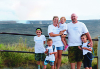 The Albaugh's Make-A-Wish Hawaii trip included siteseeing at a volcano.