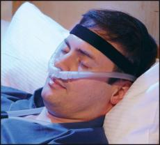 Noninvasive ventilation can be provided via a nasal interface.