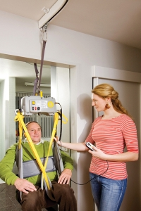 "Track-to-Track 2000 Series System with ""Tarzan"" feature, SureHands Lift & Care Systems, (800) 724-5305"