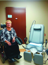 Carol Abraham's MDA clinic referred her to the Women's Incontinence and Sexual Health (WISH) clinic at Froedtert Memorial Lutheran Hospital in Milwaukee.