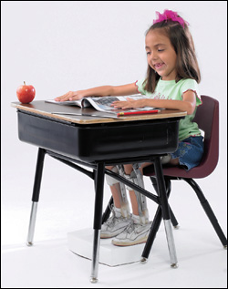Girl at desk