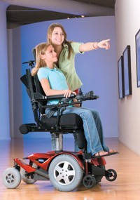 Invacare's FDX front-wheel-drive power chair