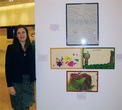 Kaufmann, with artwork contributed by her patients.