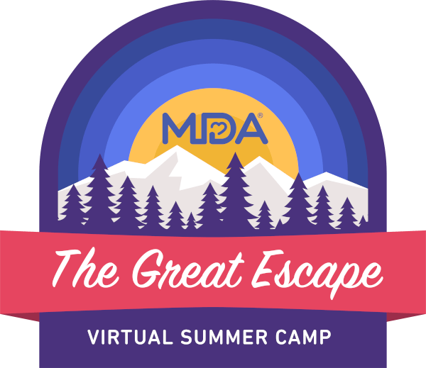MDA Virtual Summer Camp logo.