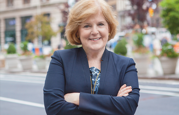 A picture of our CEO, Lynn O'Connor Vos