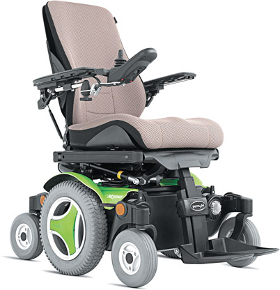 Permobil's M300 Corpus 3G mid-wheel-drive power chair
