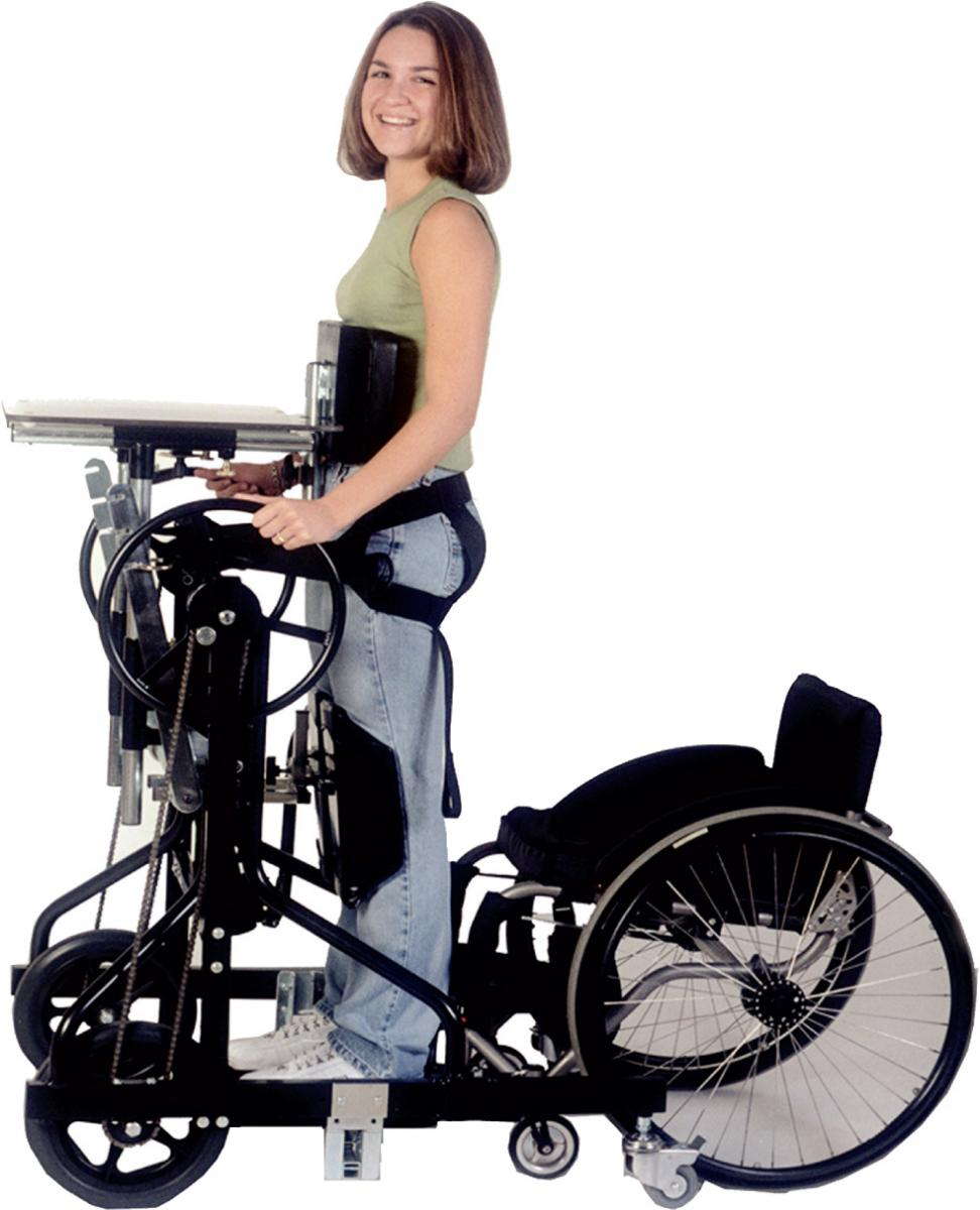 Prime Engineering's Symmetry Mobile mobile stander (wheelchair not included)