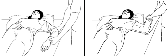 Illustration of a shoulder exercise