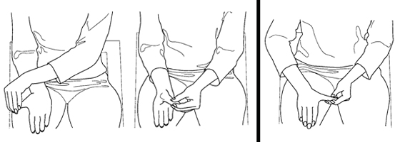 Illustration of exercises for the hand and wrist