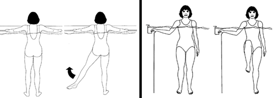 Illustration of acquatic exercises
