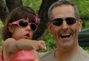 Jeff Vittek with his daughter