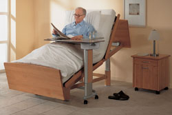 Hertz Supply's Volker health care beds come with adjustments for height, head and legs, plus recliner positioning, hidden casters and other customizable features.