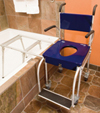 Commode-shower-tub chair: Go Mobility