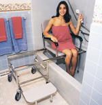 Handheld shower head: RD Equipment (shower chair also by RD Equipment)