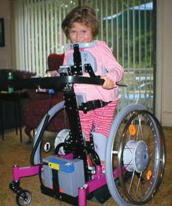 Following months of frustration, stalemate and mediation, Desiree Sheehy, 8, of Franklin Lakes, N.J., now uses a Standing Dani, pictured here, at school per her IEP's stipulations. Desiree's family argued that another device called the Easy Up n' Go partial weight-bearing system was more beneficial, but the school district claimed it failed to provide any therapeutic value beyond regular PT sessions.