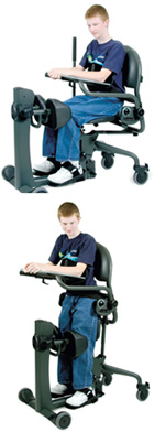 The EasyStand Evolv from Altimate Medical is a sit-to-stand stander designed for teenagers and small adults.