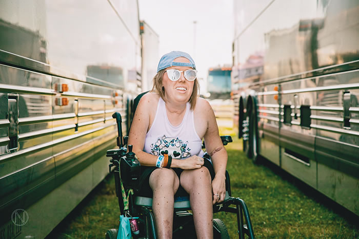 Kelly Berger loves the inclusive atmosphere and behind-the-scenes access of music festivals.