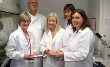 Kay Davies (DMD): Davies (center) with colleagues.