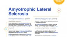 Fact sheet for Amyotrophic Lateral Sclerosis.