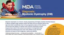 Downloadable educational flyer on Myotonic dystrophy.