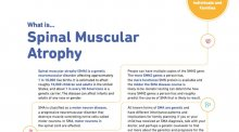 Fact sheet for Spinal muscular atrophy.