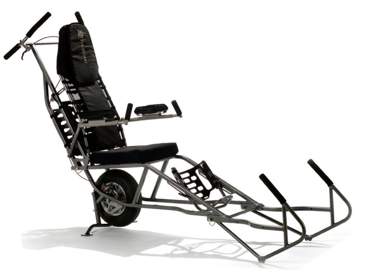 The TrailRider is one of the single-wheel trekking chairs available.