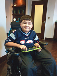 Tyler, who is living with Duchenne muscular dystrophy